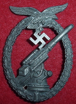 Nazi Luftwaffe Flak Artillery Badge...$175 SOLD
