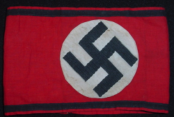 Nazi SS Cotton Armband...$395 SOLD