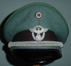 Nazi Police Officer's Visor Hat by Pekuro...$380 SOLD