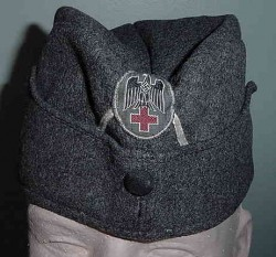 Nazi Red Cross EM Overseas Cap...$350 SOLD