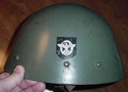 WWII Czech Nazi Police Double Decal Helmet...$700 SOLD