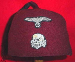 Nazi 13th Waffen-SS Mountain Division Handschar Fez Cap...$850 SOLD