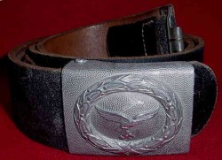 Nazi Luftwaffe EM Belt and Buckle with Leather Tab...$125 SOLD