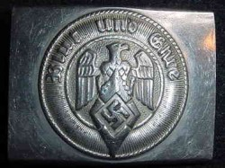 Nazi Hitler Youth Nickeled Steel Belt Buckle...$90 SOLD