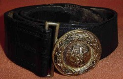 Nazi Penal Administration Official Belt Buckle with Belt...$295 SOLD