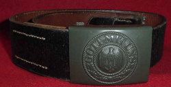 Nazi Kriegsmarine EM Belt and Buckle with KM-Marked Tab...$275 SOLD