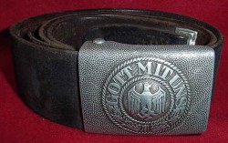 Nazi Army EM Belt and Buckle with Marked Tab...$180 SOLD