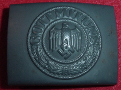 Nazi Kriegsmarine EM Belt Buckle by JFS...$195 SOLD