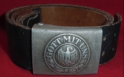 Nazi Army EM Belt and Buckle with Tab...$150 SOLD
