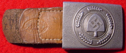 Nazi RAD EM Belt Buckle with Leather Tab...$125 SOLD