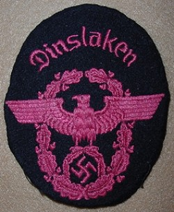 Nazi Fire Police Sleeve Patch for Dinslaken...$45 SOLD