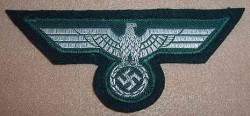 Nazi Model 1935 Army Officer Breast Eagle Patch...$65 SOLD
