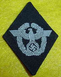 Nazi Waffen SS Polizei Divisional Sleeve Patch...$195 SOLD