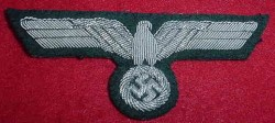 Nazi Army Officer's Bullion Breast Eagle...$75 SOLD