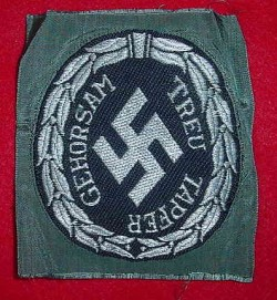 "Nazi ""Schuma"" Eastern Volunteer Police Sleeve Patch...$195 SOLD"
