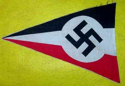Nazi Swastika National Colors Pennant...$65 SOLD