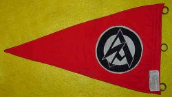 Nazi SA Vehicle Pennant with RZM Tag...$195 SOLD