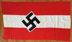 Nazi Hitler Youth Banner with Pole Sleeve...$425 SOLD