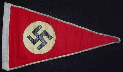 Nazi Swastika Car Pennant...$125 SOLD