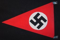 Nazi Swastika Vehicle Pennant in RZM-Marked Frame...$475 SOLD