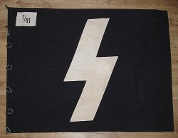 Nazi Deutsches Jugend Flag with Corner Patches and Rings...$900 SOLD