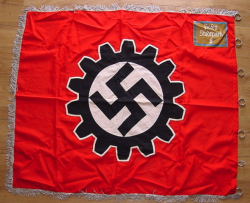 Nazi DAF Ortsgruppe Level Unit Flag with Rings...$675 SOLD