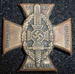 Nazi NSKOV 1934 Tinnie Badge...$40 SOLD