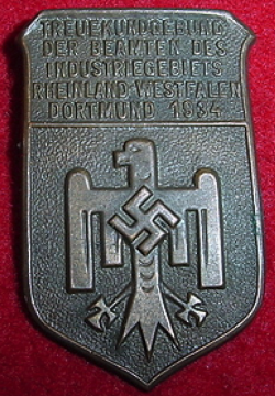 Nazi 1934 Industrial Official's Rally Tinnie Badge...$40 SOLD