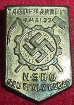 Nazi 1933 NSBO Tinnie Badge...$20 SOLD