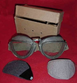 Nazi Wehrmacht Goggles in Issue Box with Extra Lenses and Capture Paper...$275 SOLD
