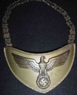 Nazi Political Leader's Gorget with Matching Numbers...$995 SOLD