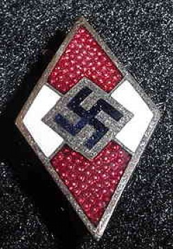 Nazi Hitler Youth Knife Grip Insignia...$60 SOLD