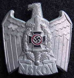 Nazi NSKOV Visor Hat Eagle Badge...$65 SOLD