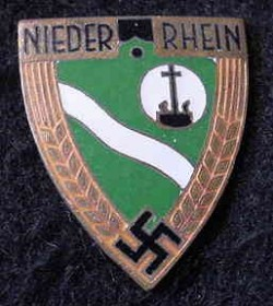 Nazi Niederrhein Badge...$45 SOLD