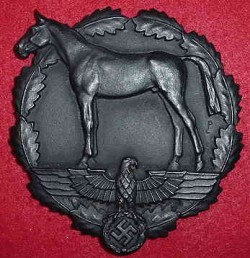 Nazi SA Mounted Horse Training Table Medal...$295 SOLD