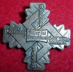 Nazi 1934 NSDAP Gauparteitag Badge...$38 SOLD