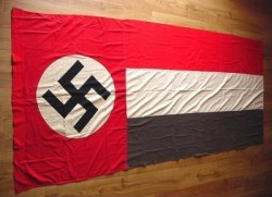 Nazi Swastika and National Colors Banner...$450 SOLD