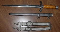 Nazi Army Officer's Dress Dagger by Alcoso with Hangers...$575 SOLD