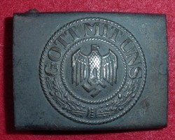 Nazi Army EM Belt Buckle with Maker's Marking...$65 SOLD