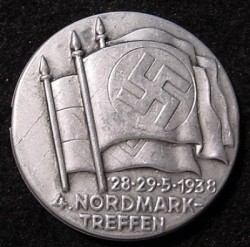 "Nazi 1938 ""4. NORDMARK TREFFEN"" Badge...$45 SOLD"