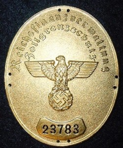 Nazi Customs Official's Sleeve Badge...$75 SOLD