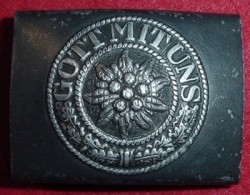 "Nazi Army ""Post-War Conversion"" Eidelweiss Belt Buckle...$125 SOLD"