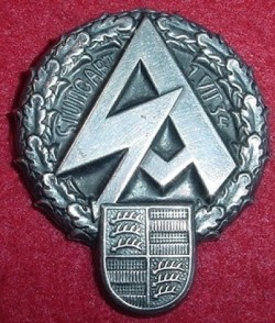Nazi SA Stuttgart 1934 Tinnie Badge...$40 SOLD