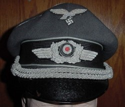 Nazi Luftwaffe Officer's Visor Hat...$350