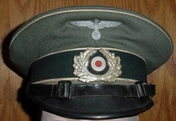 Nazi Army Infantry EM Visor Hat...$219 SOLD