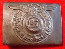 Nazi SS EM Belt Buckle by Assmann...$415 SOLD