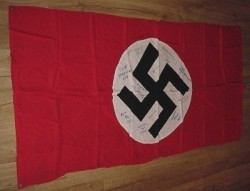Nazi Swastika Vehicle ID Banner Captured from the 5th SS Panzer Division...$450 SOLD