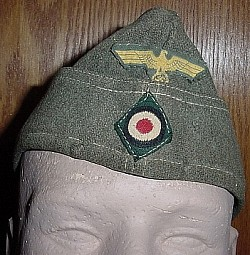 Nazi Kriegsmarine Coastal Artillery EM Overseas Cap with Name Tag...$185 SOLD