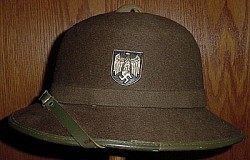 "Original Nazi ""Afrika Korps"" Tropical Pith Helmet Dated 1942...$325 SOLD"